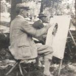 Ernest easel outside