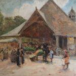 Market big painting